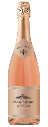 Rose sparkling wine Duc de Raybaud Pinot Noir Provence wine